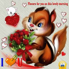 Flowers For You. - Bloom this day for your partner with a sweet gesture of using this - Good Night Gif, Good Morning Picture, Good Morning Love, Good Morning Greetings, Good Morning Images, Beautiful Love Pictures, Cute Love Images, Romantic Good Night Messages, Hugs And Kisses Quotes