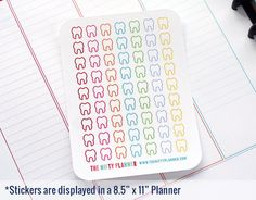Dentist Stickers  63 Planner Stickers  1 Sheet  by TheNiftyPlanner