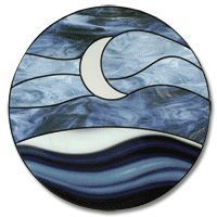 Crescent Sky Stained Glass Pattern