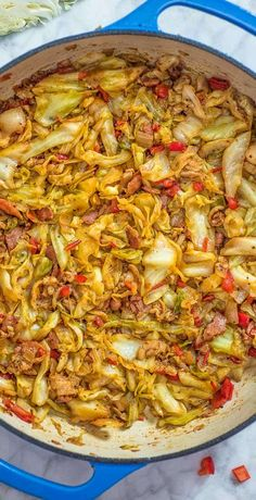This Fried Cabbage recipe is insanely good! Made with bacon onion bell pepper and a touch of hot sauce it is easy to make simple and comes out perfect every time! Fried Cabbage Recipes, Bacon Fried Cabbage, Chicken Recipes, Hamburger Recipes, Pork Bacon, Vegetable Side Dishes, Vegetable Recipes, Veg Dishes, Cooking Recipes