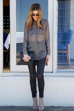 What I Wore: Sheer styling