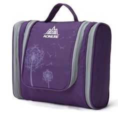 AoMagic Large Capacity Travel Cosmetic Bag Shaving Bag On A Business Trip Purple ** Awesome outdoor product. Click the image : Travel essentials Makeup Bag Organization, Makeup Storage, Travel Toiletries, Travel Cosmetic Bags, Best Travel Accessories, Wash Bags, Toiletry Bag, Business Travel, Ukulele