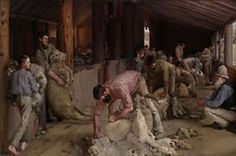 Tom Roberts, Shearing the rams 1890