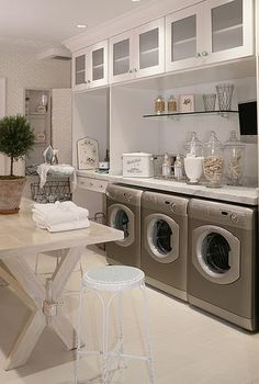 The laundry you have when you have too many kids and need 3 washing machines! It's gorgeous nonetheless!