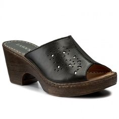 Șlapi LASOCKI - F227 Negru Heeled Mules, Clogs, Fashion, Clog Sandals, Moda, Fashion Styles, Fashion Illustrations