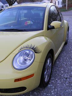 Sally with eyelashes.
