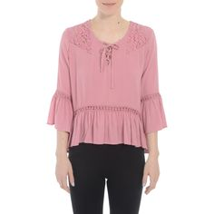 Romeo and Juliet Couture Ladies Peasant Top with Detail