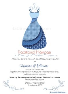 Leba la ka Sotho Traditional Wedding Invitation