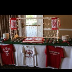 Soccer banquet dessert table!