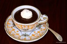 Sweeten your day with luscious Italian Hot Chocolate. It's so thick, eat with a spoon as a snack or dessert. Whisk 1/2 cup cocoa powder into 1/2 cup still mineral water. Add some chocolate, sweeten to taste. Warm over low heat, stirring slowly, until it thickens. Pour into a serving cup. Optional: Garnish with whipped cream. A little bit of heaven on earth. #chocolate #beverages #drinks #italian #glutenfree #vegan #paleo #dessert #snacks #yumyum