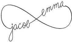 Infinity Tattoo Sketch with childrens names by jRoxDesigns