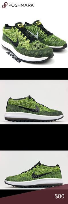 6371aadf96aa4 Nike Womens Flyknit Racer G Golf Shoes Volt Sz 10 Nike Womens Flyknit Racer  G Golf Shoes Volt Sequoia Black 909769-700 - Men s Size 10 - New Without  Box ...