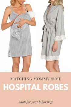 755cbe8f25969 Delivery, Maternity, & Nursing robe, nursing nightgown, & matching baby  swaddle. Milk & Baby