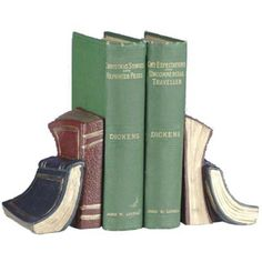 The Library Book Bookends - Bookends at Hayneedle