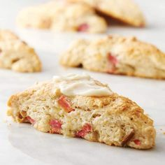Rhubarb Ginger Cream Scones from Land O'Lakes