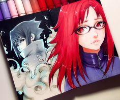 drawings of dresse Dark Art Drawings, Art Drawings Sketches, Beautiful Fantasy Art, Beautiful Drawings, Naruto Art, Naruto Uzumaki, Manga Art, Anime Art, Copic Marker Art