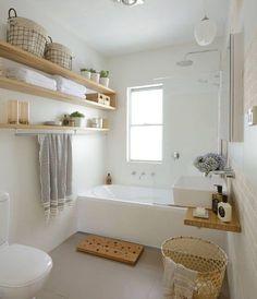 moderne kleine badkamer