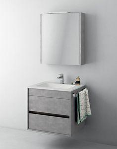 Mobiletto salvaspazio con cassetti e specchio contenitore