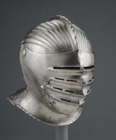 Philadelphia Museum of Art - Collections Object : Close Helmet Knight In Shining Armor, Knight Armor, Army Helmet, Knights Helmet, Landsknecht, Medieval Weapons, Philadelphia Museum Of Art, Arm Armor, 14th Century