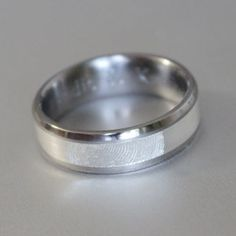 Custom made titanium ring manufacturers in South Africa Fingerprint Ring, American Wedding, Titanium Rings, Wedding Bands, Engagement Rings, Silver, Gold, Jewelry, Jewellery Making