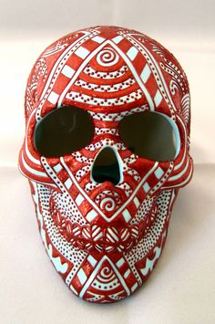 sugar skull ceramic