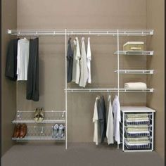 Simple Dressing Room With Closetmaid Shelving System Ideal White Wire Closet Shelves Ideas And