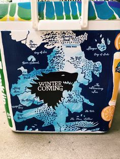 game of thrones map cooler