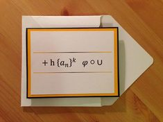 25 a6 kraft greeting card boxes with clear top lid box lids thank you math themed thank you card geek thank you card maths thank m4hsunfo