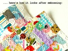 notes on paper: How To: turn scraps of washi into crazy-quilt style embellishments [photo tutorial]