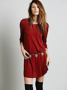 Anja Hip Belt   Mixed metal chain hip belt with beads and tribal medallions. Adjustable.  *By Free People