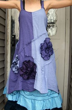 Wavy Flower Dress by sarahclemensclothing on Etsy, $149.00