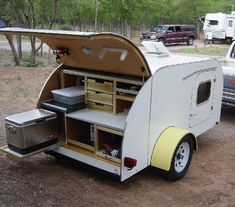 Three Texas Teardrop Trailers, blog shows replacing a door with one made to house an air conditioner.