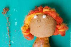 """Купить """"Цвета хурмы.."""" Интерьерная кукла - рыжий, рыжая девочка, рыжая кукла, принцесса"""