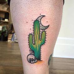 creepy cactus tattoo Spooky Tattoo Design Ideas