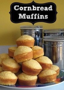 Cornbread muffin recipe that I recently tried out and it works very well! Grate a little bit of cheese over the top and then drizzle some melted butter when they come out and they are truly amazing.