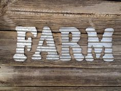Corrugated Steel Letters Country Primitive Fall Home Decor For Modern Homes And Cottages