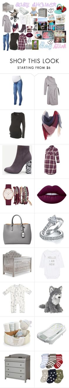 """""""Baby Shower Inspo"""" by shaniqua-johnson on Polyvore featuring Mama.licious, Boohoo, George, True Craft, Lime Crime, Lauren Ralph Lauren, Bling Jewelry, Baby Aspen, The First Years and South Shore"""