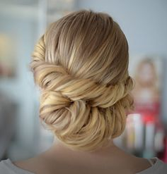 Roll, twist, chignon, bridal, updo Hair by Majorie