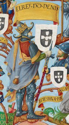 1ª DINASTIA - AFONSINA - REI de Portugal D. DINIS I (1261-1325), o Lavrador. Casou com Isabel de Aragão (Rainha Santa Isabel)