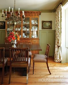 Photo Gallery: Traditional Cottages | House & Home  Love the Wainscotting and Early American Feel of this room...