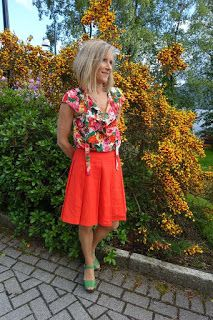 Ellen's Sewing Passion: Integrated Flounce Blouse