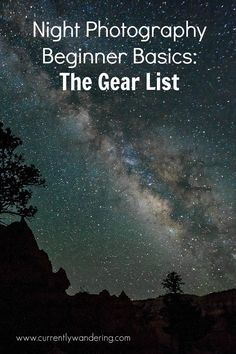 We've had the opportunity recently to learn a little about shooting the stars at night. Here is the first post in a new series. Check out how little gear you actually need!