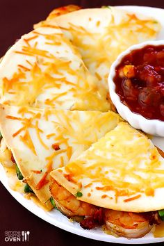 Buy some fresh Gulf Shrimp and try this Parmesan Crusted Shrimp Quesadillas. Buy some fresh Gulf Shrimp and try this Parmesan Crusted Shrimp Quesadillas. Fish Recipes, Seafood Recipes, Mexican Food Recipes, Cooking Recipes, Healthy Recipes, Cheap Recipes, Skillet Recipes, Cooking Tools, Gastronomia