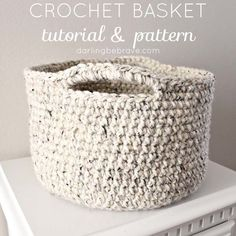 Darling Be Brave crochet basket tutorial                                                                                                                                                                                 More