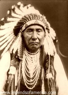 what a beautiful picture of chief joseph, who stood his ground and fought when americans tried to take his tribes land. ive always admired (and secretly wanted to be) an indian