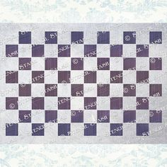 Chequerboard Pattern A traditional square pattern stencil that can be easily repeated. The top matches with the bottom and the two sides match up to make an unbroken pattern that will cover any size area. Use with our Alice in Wonderland collection to add a whimsical feel to your