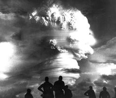 Observers view atmospheric testing during operation Hardtack I -- a thermonuclear detonation during the Pacific tests in 1958.