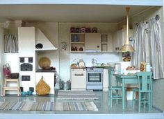 Jasmiini Small Small, Small World, Miniature Dolls, Dollhouses, New Pictures, House Ideas, Dreams, Interior, Kitchen