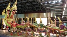 Statue depicting Samudra Manthan at Bangkok-Suvarnabhumi International Airport
