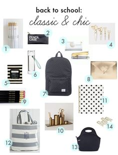 back to school style classic & chic classic & chic back to school finds The post back to school style classic & chic appeared first on School Diy. Middle School Supplies, Middle School Hacks, High School Hacks, College School Supplies, School Goals, School Kit, School Style, School Teacher, Schul Survival Kits